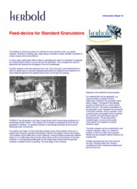 Feed Devices For Standard Granulators