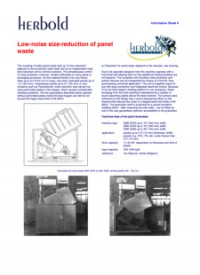 Low Noise Size Reduction of Waste Panels